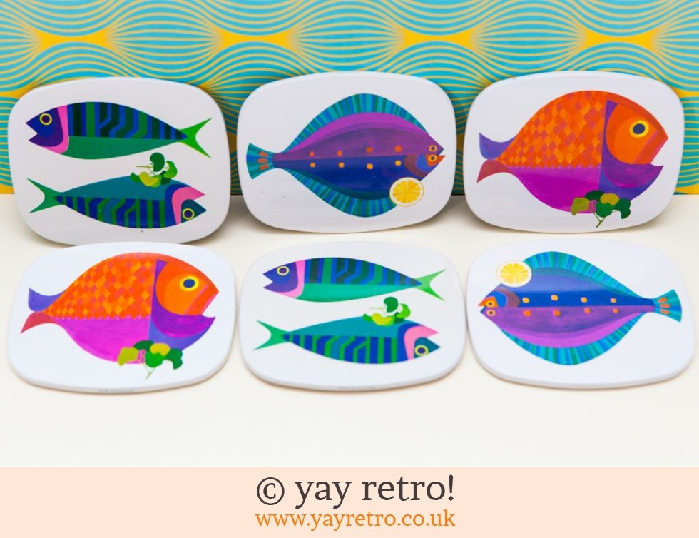 Sea Dreams Fish Savoy Coasters Boxed Set - Rare (£75.00)