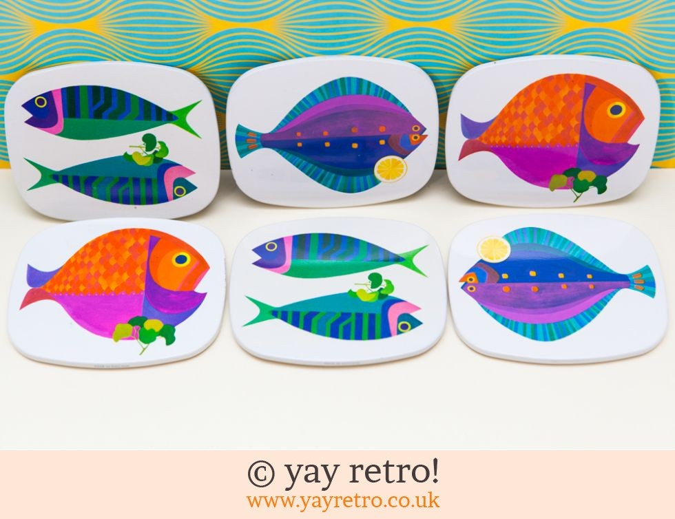 Worcester Ware: Sea Dreams Fish Savoy Coasters Boxed Set - Rare (£75.00)