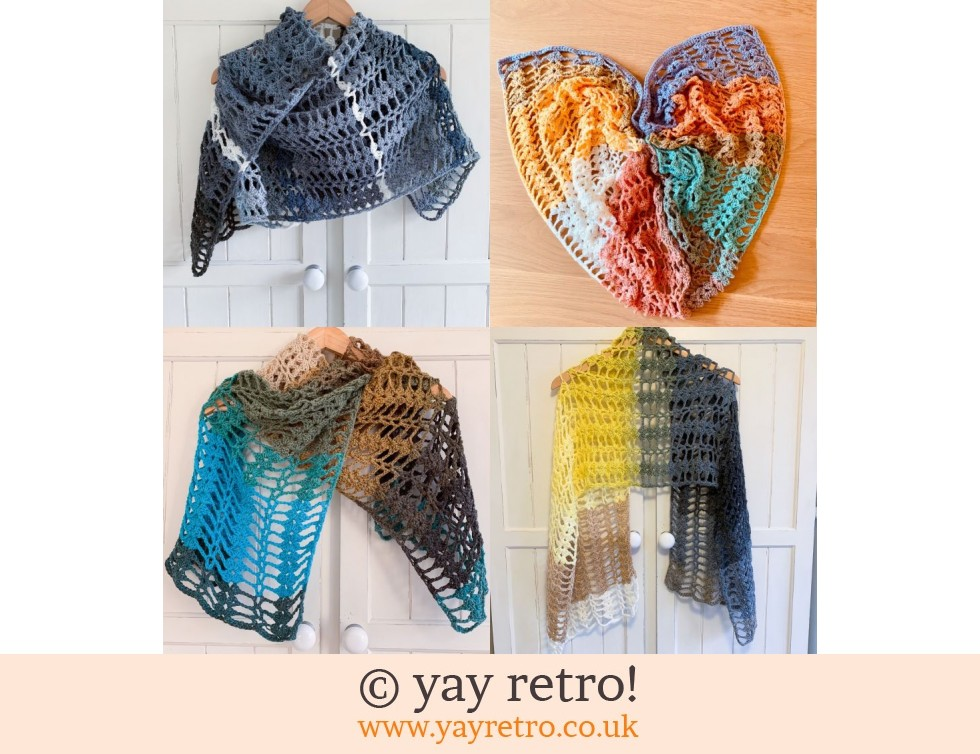 Pre-order a 'Love Hearts' Crochet Shawl/Scarf from yay retro (£22.50)