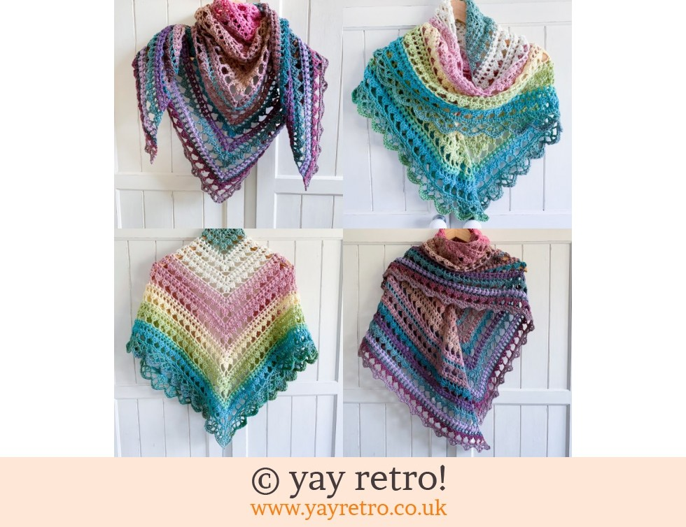 Pre-Order a 'V for Vintage' Crochet Shawl from yay retro! (£32.50)