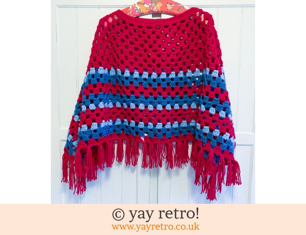Pre-Order a Crochet Adult Boho Poncho WITH TASSELS (£47.50)