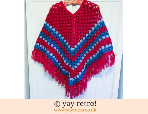 152: Pre-Order a Crochet Adult Boho Poncho WITH TASSELS (£47.50)