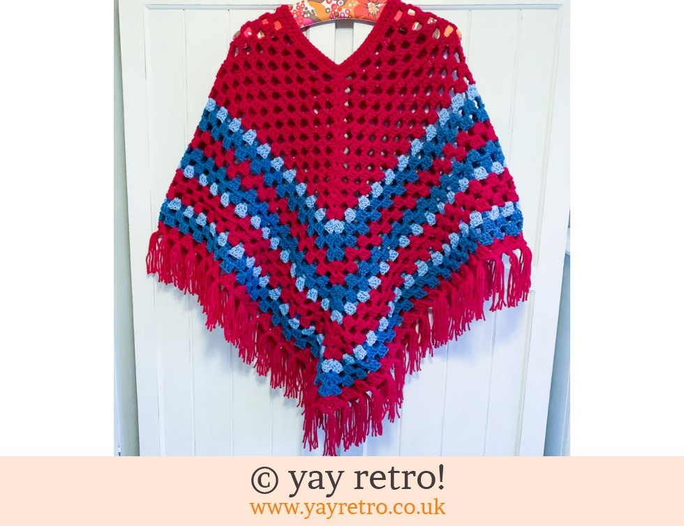 yay retro!: Pre-Order a Crochet Adult Boho Poncho WITH TASSELS (£47.50)