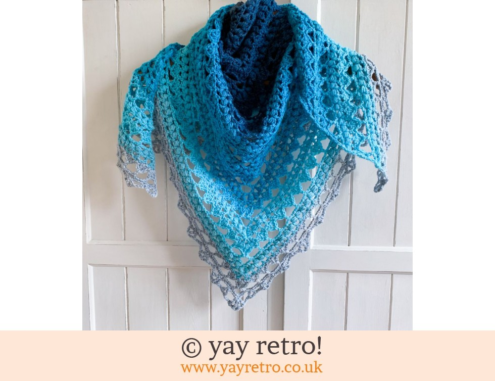 'Sea Blue' V for Vintage Crochet Shawl (£32.50)