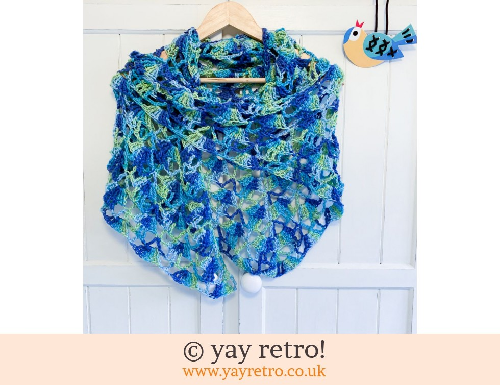 yay retro!: 'Sea Breeze' Crochet Shawl (£34.00)