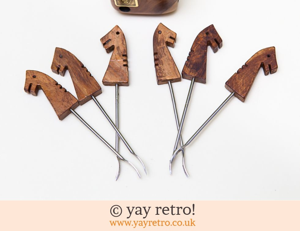 MidCentury Horse Shaped Olive Forks in Dice (£12.95)