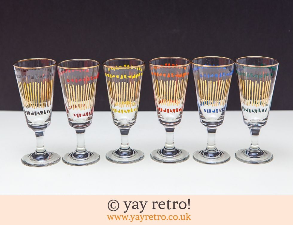 Chesterfield: Boxed 1950s Wine Glasses Atomic (£20.00)