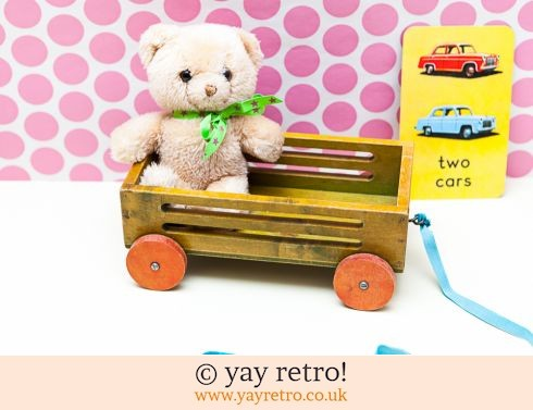 0: Wooden  Pullalong Trailer + Free Teddy (£8.00)