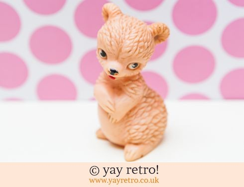 733: Vintage 1950/60s Squeaky Toy Bear (£4.75)