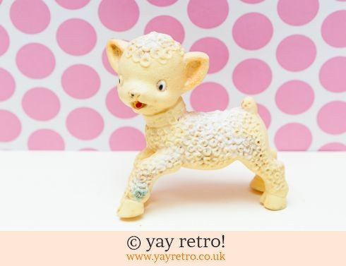 733: Vintage 1950/60s Squeaky Toy Lamb (£5.00)