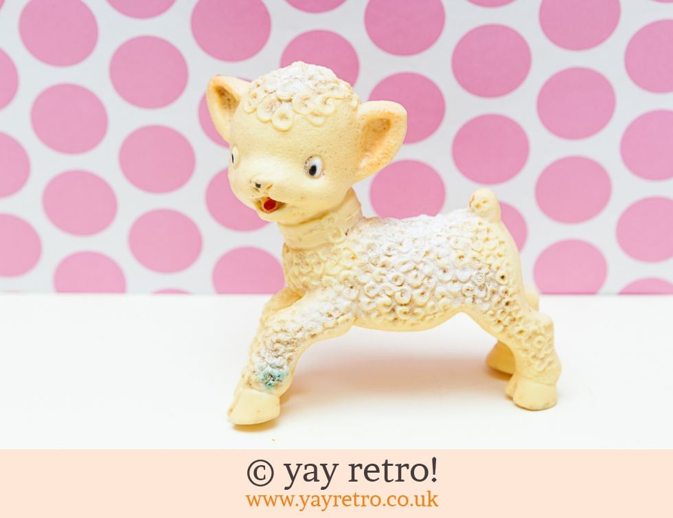 Vintage 1950/60s Squeaky Toy Lamb (£5.00)