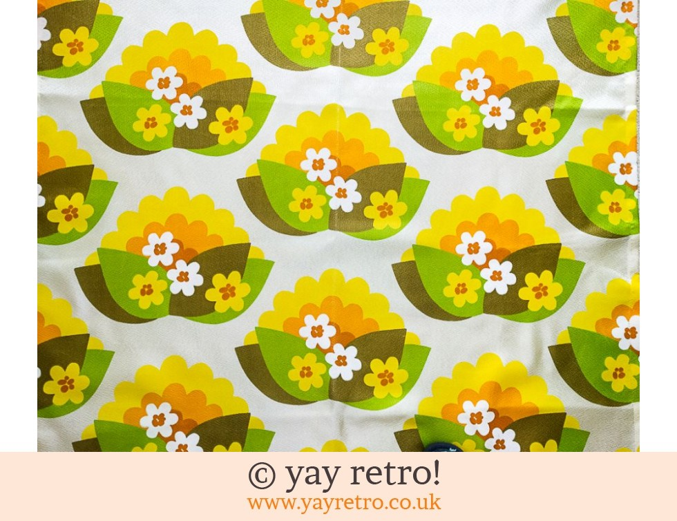 1950 60s Flower Power Curtain Fabric Buy Yay Retro