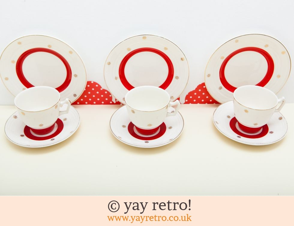 vintage red gold trios vintage shop retro china glassware  sc 1 st  [.ysnfhome.tk] CV Resume Gallery Of S&les Resume And CV & Retro Dinner Sets Uk. best kiln craft tableware deals compare prices ...