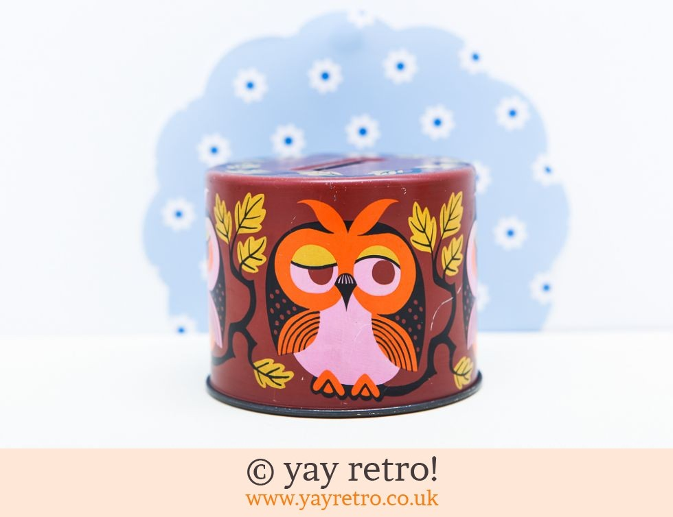 Bristows: Owl Sweetie Tin Money Box (£9.00)