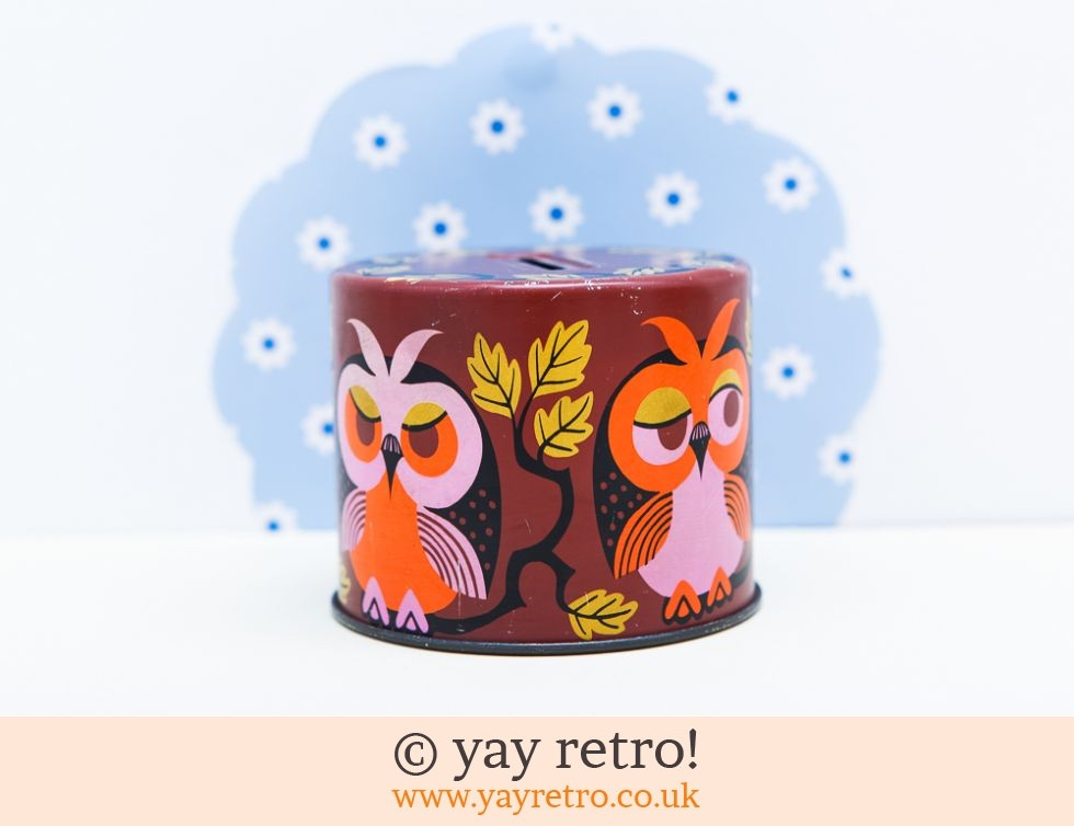 Owl Sweetie Tin Money Box (£9.00)