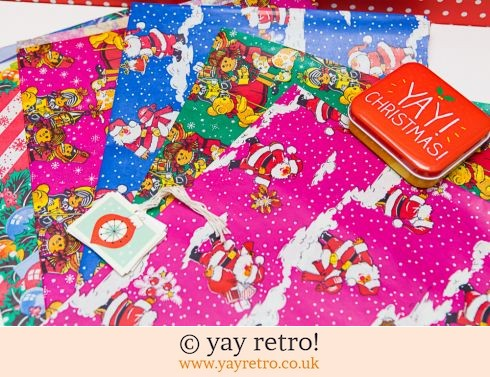 0: Vintage Xmas Wrapping Paper + free tags (£8.00)