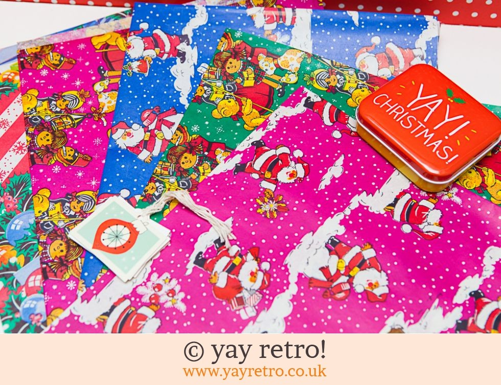 Vintage Xmas Wrapping Paper + free tags (£8.00)
