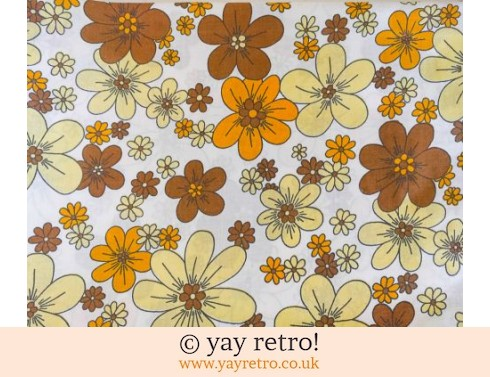 0: Orange Daisy Single Sheet & Pillow Case (£16.50)