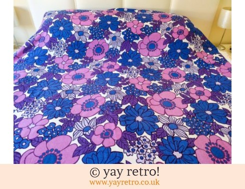 0: Stunning Flower Power Bedcover Throw 1960/70s (£27.95)