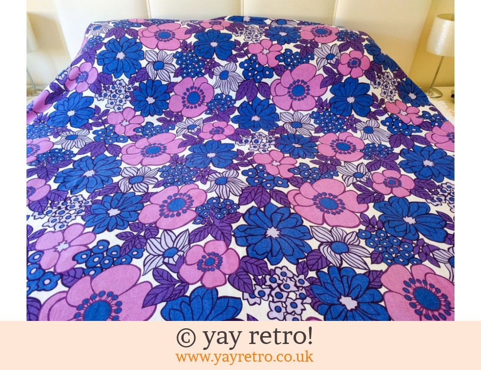 Stunning Flower Power Bedcover Throw 1960/70s (£27.95)