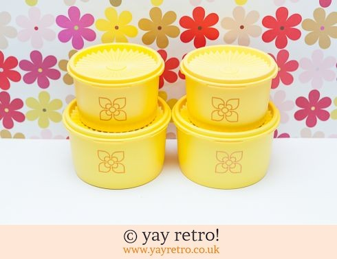 46: Yellow Vintage Tupperware x 4 (£22.00)