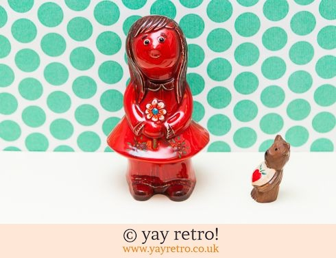 0: 1960s Girl Money Box - Flower Power - Italian styling (£16.00)