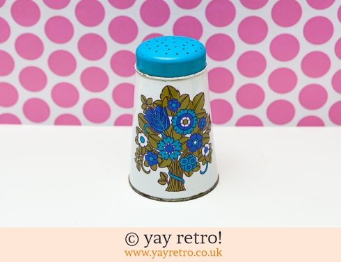 526: Flower Power Flour / Sugar Shaker Tin (£10.50)