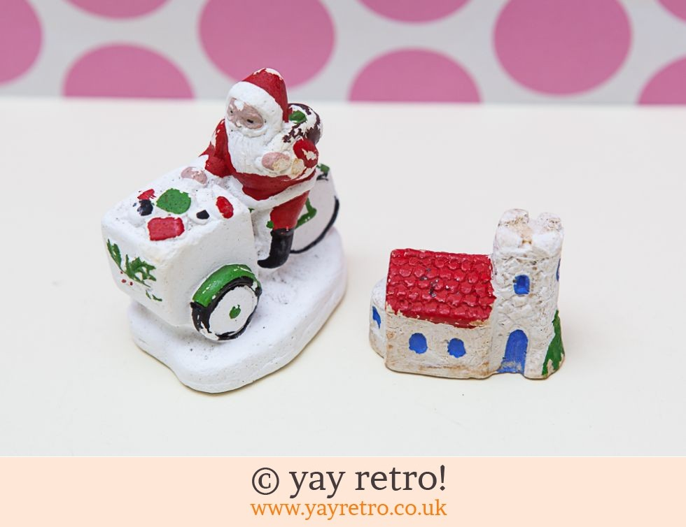 Vintage Christmas Cake Decorations 1940/50s? (£1.50)