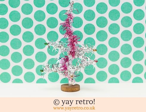 0: Vintage 60s Silver Christmas Tree 10cm (£9.95)