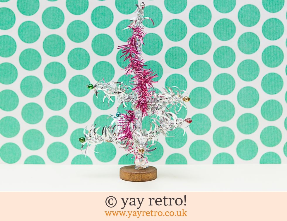 Vintage 60s Silver Christmas Tree 10cm