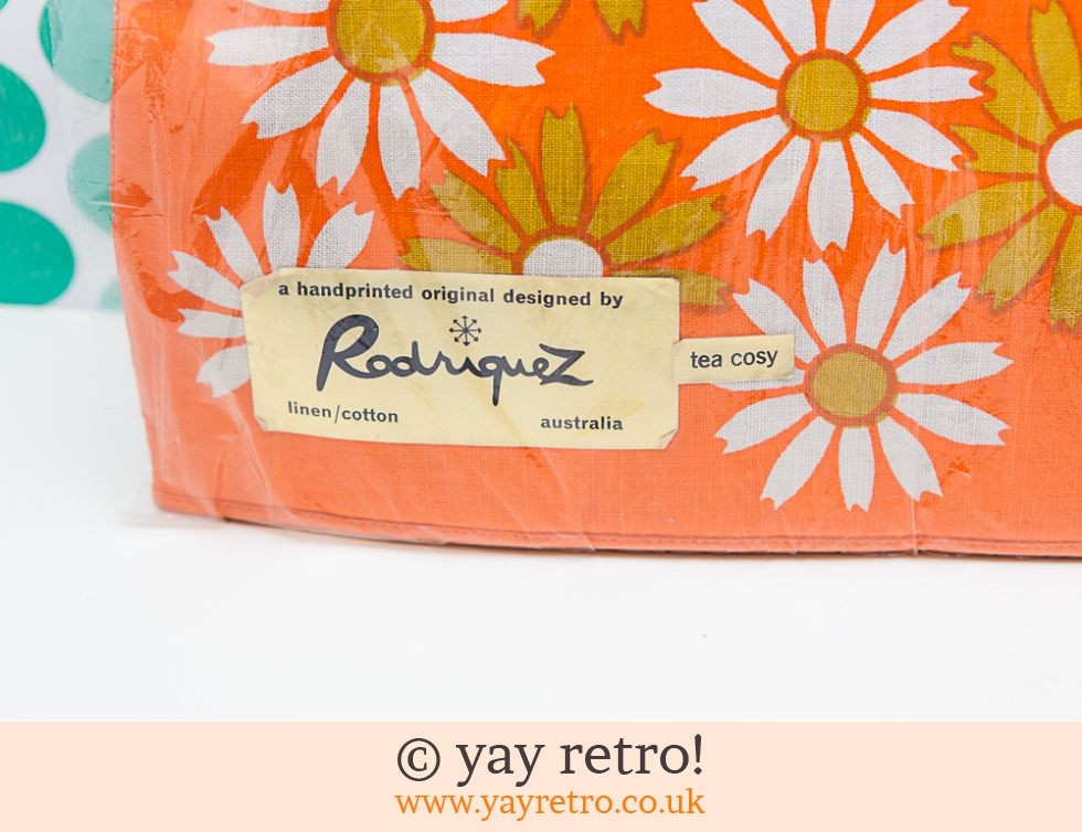 Stunning Orange Flowery Tea Cosy unused (£14.00)