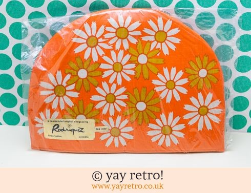 0: Stunning Orange Flowery Tea Cosy unused (£13.95)