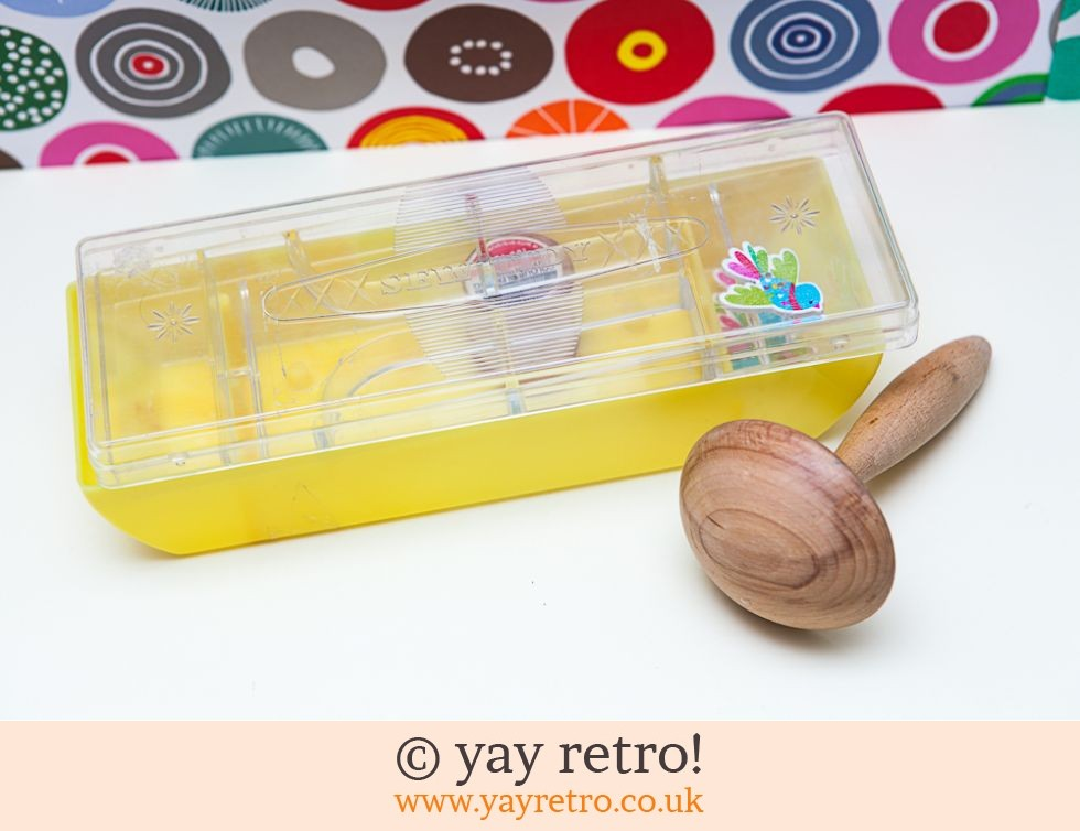 Vintage Sew Tidy Box, Darning Mushroom & Bird Buttons (£12.50)