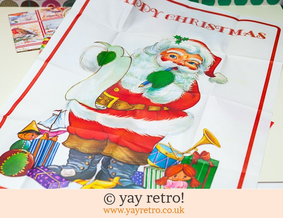 10 Sheets Genuine Vintage Xmas Wrapping Paper (£10.00)