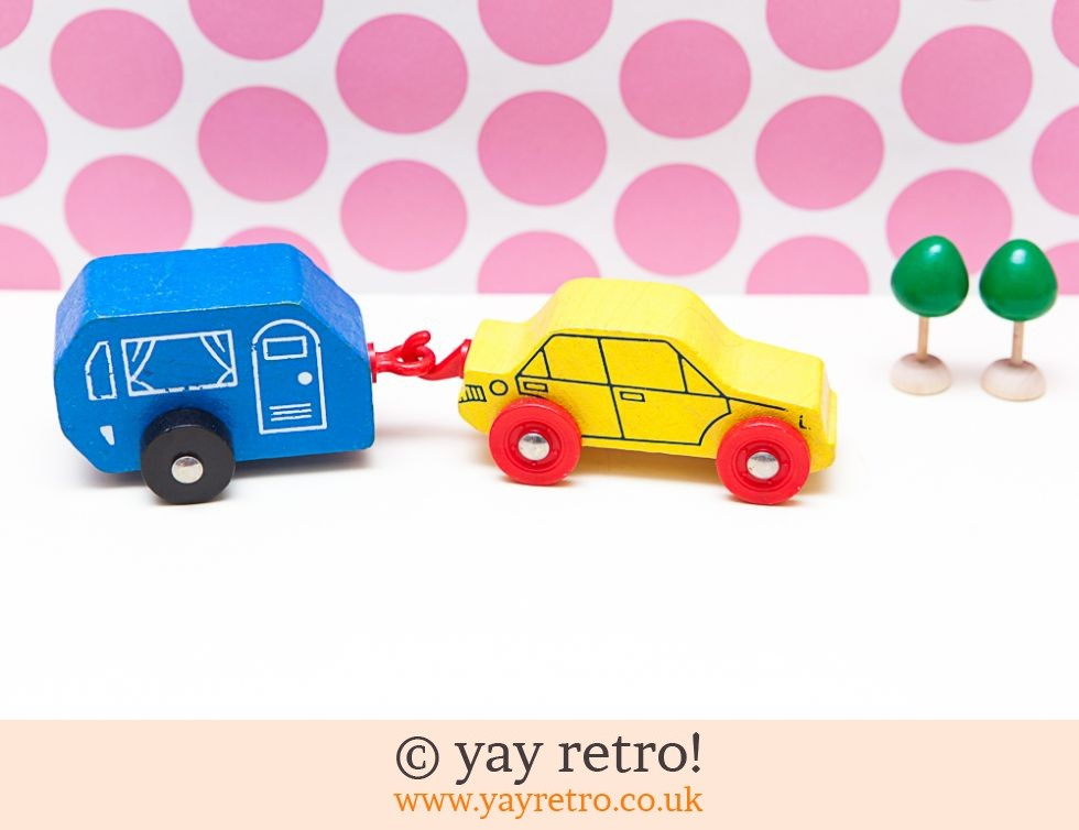 Early Learning: Wooden Car & Caravan Toy / Ornament (£8.50)