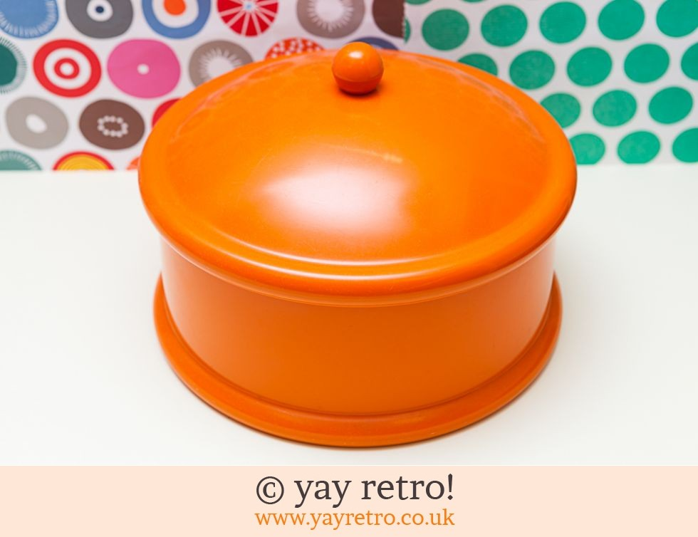 The Working Kitchen: Bright Orange Cake Storage (£14.00)
