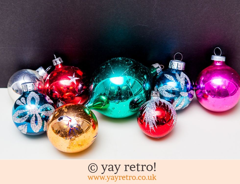 Vintage Christmas Decorations Glass Med Large Buy Yay Retro