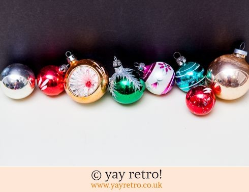 0: Vintage Christmas Decorations Glass (£16.50)