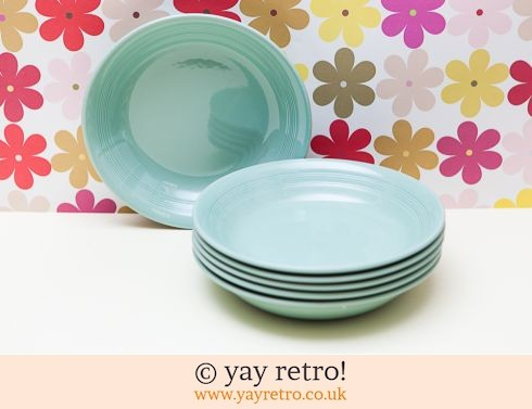 58: 6 larger Woods Beryl Dishes (£17.50)