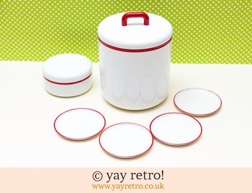 0: Vintage Melamine Ice bucket and Coasters Set 1980s (£11.00)