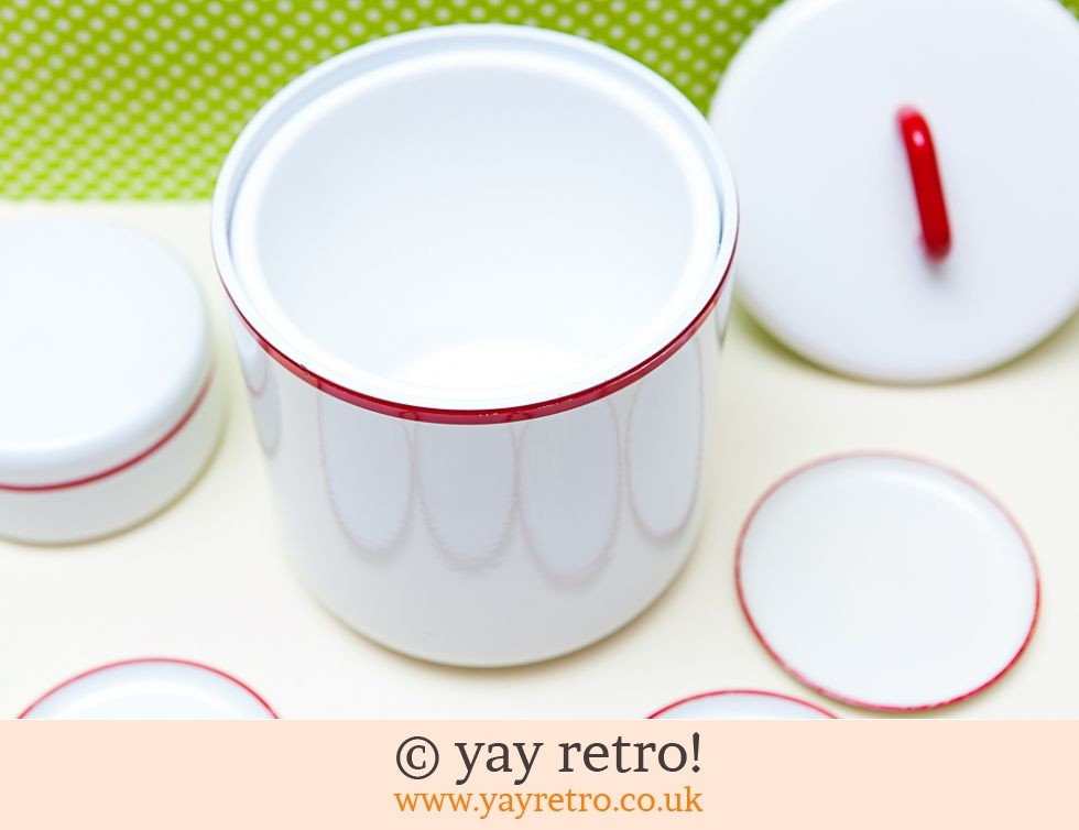 Vintage Melamine Ice bucket and Coasters Set (£17.00)