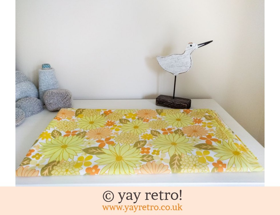 Vintage Yellow Flowery Double Sheet (£18.50)
