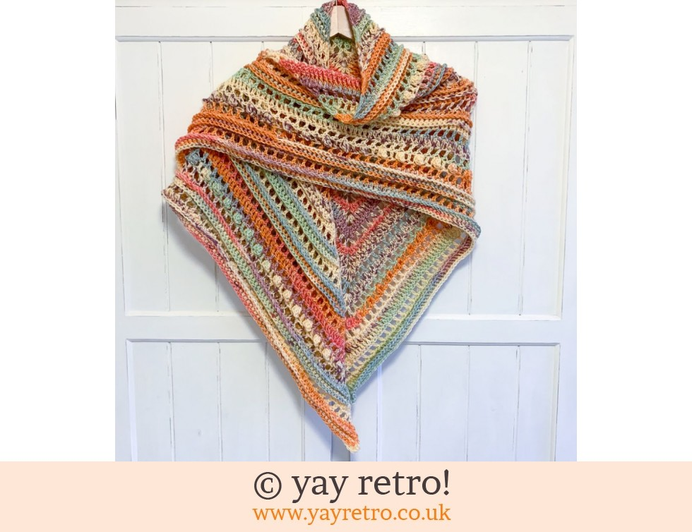 yay retro!: Sherbet Sensation Crochet Shawl (£32.50)