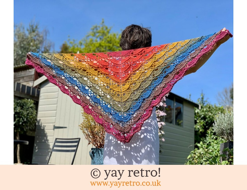 yay retro!: Butterfly Textured Crochet Shawl (£35.50)
