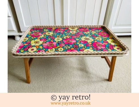 Best Ever Vintage Folding Flowery Table (£39.00)
