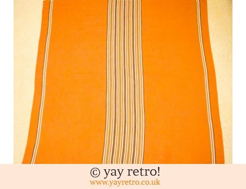 339: Deep Orange Vintage Tablecloth Finland (£16.00)