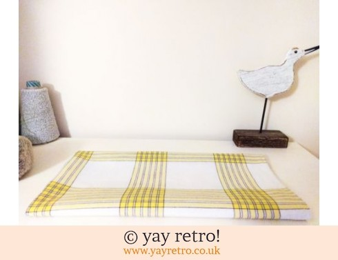 0: Yellow Check Cotton Tablecloth (£6.50)
