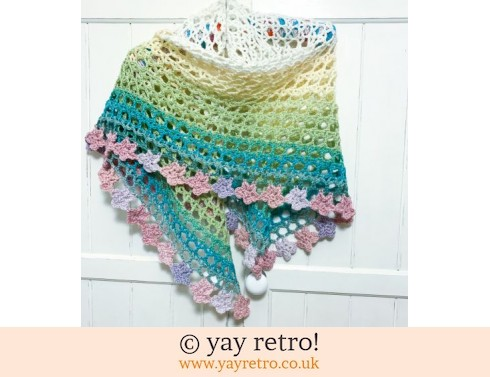Pastel 'Tea Flower' Crochet Shawl (£32.50)