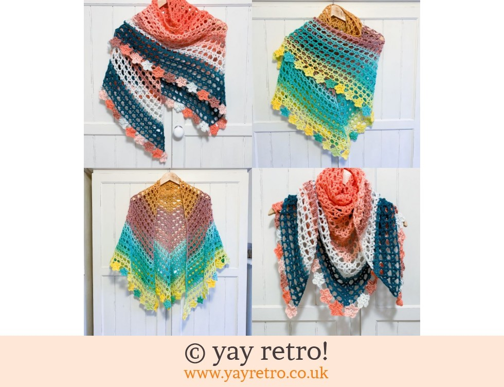 yay retro!: Pre-Order a 'Tea Flower' Crochet Shawl (£32.50)