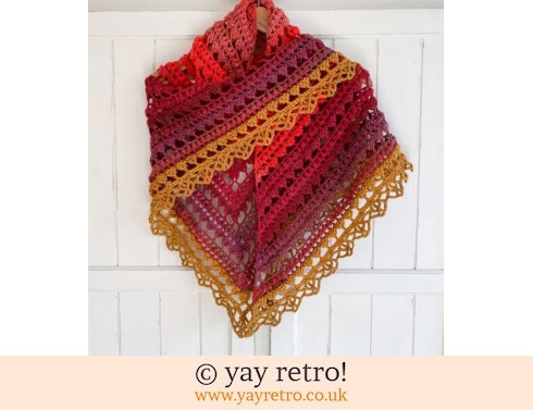 152: 'Sunset' V for Vintage Crochet Shawl (£32.50)